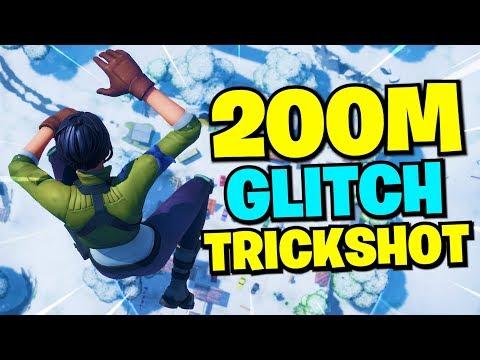 i hit my best GLITCH trickshot... (Road to a Trickshot - Fortnite)