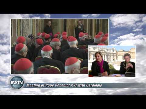 Pope Benedict XVI greets College of Cardinals - 2013-02-28- EWTN