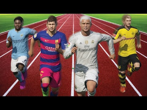 FIFA 16 Speed Test | Fastest Left Wingers (LW/LM/LF) in FIFA (without the ball)