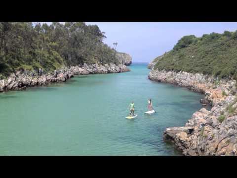 Playa de Guadamia (Pría - Llanes - Asturias) en Stand Up Paddle Surf (SUP)