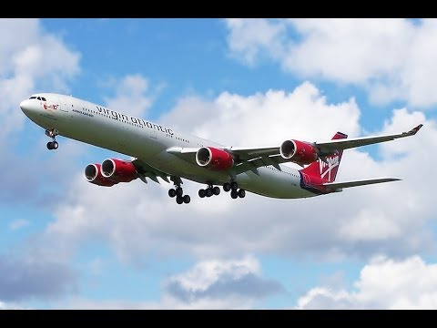 Virgin Atlantic A340-600 - The Fleet - HEATHROW PLANE SPOTTING Flight Arrivals Landing Departing