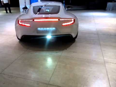 ASTON MARTIN ONE-77 1.4 million pound super car leaving JCT600 - Check out that exhaust note!