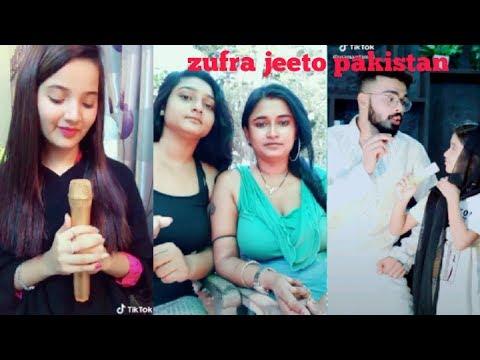 Zufra jeeto Pakistan singing pehla nasha Musically tik tok||zufra funny dialogues videos