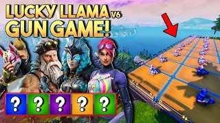 LUCKY LLAMA GUN GAME v6! - Fortnite Creative met Don, Eva & Jacco (Nederlands)