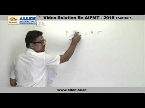 AIPMT 2015 Re-Exam Physics Solution – Q. No. 152, 153, 154 (Paper Code-A)