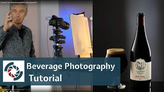 Beverage Photography tutorial:  Fast way to shoot a bottle of beer