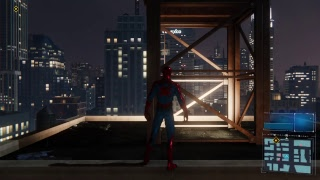 Playing Spiderman PlayStation 4 exclusive game