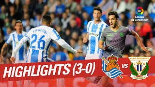 Highlights Real Sociedad vs CD Leganes (3-0)