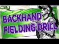 Softball Drills: Backhand Fielding Drill