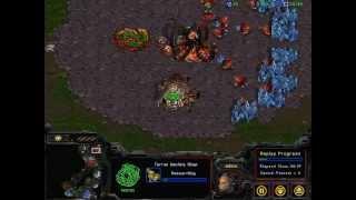 Berkeley Overmind (Zerg) vs. Krasi0bot (Terran) [AI bots]