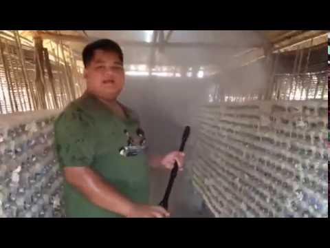 มาทำไอหมอกในโรงเรือนเห็ด ด้วยเครื่องปั้มน้ำอัดฉีดล้างรถ