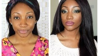 Olive Green Sultry Eyes+ Ombre Lips Makeup Tutorial