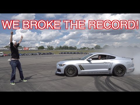 I ALMOST HIT HIM WITH 727 HP Roush Mustang
