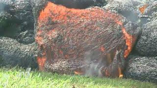 ธารลาวาบนเกาะฮาวายไหลเข้าใกล้ชุมชนห่างเพียง 152 เมตร