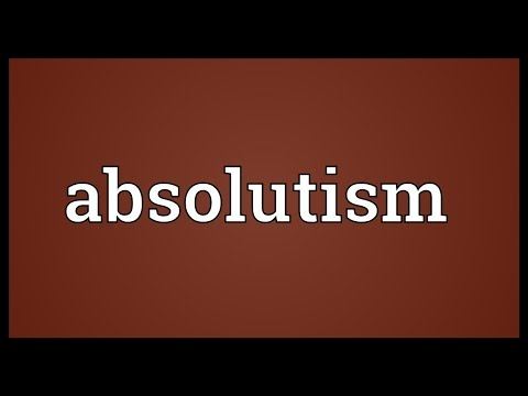 Header of absolutism