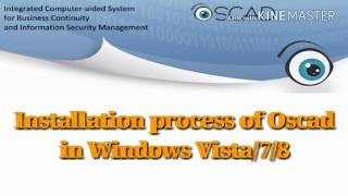 Installation process of Oscad in Windows Vista/7/8