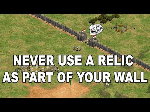 AoE2: Don't use relics as part of your wall