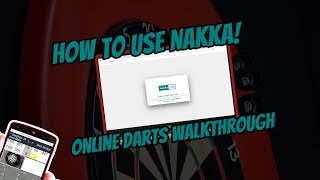How to use NAKKA N01 online darts walkthrough!