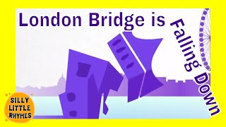 London Bridge is Falling Down | Classic English Kids Nursery Rhymes | Cartoon Songs For Children