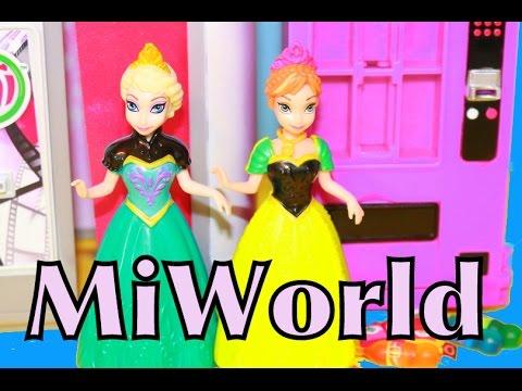 Alltoycollector Frozen Miworld Toy Review Vending Machine Photo Booth Disney Princess Anna Elsa video