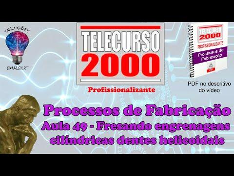 Telecurso 2000   Processos de Fabricacao   49 Fresando engrenagens cilindricas dentes helicoidais