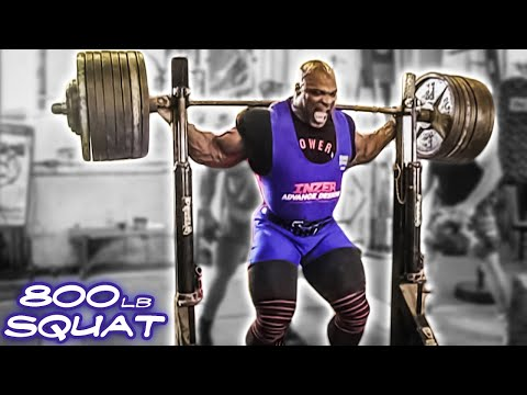 Ronnie Coleman- 800 Lb Squat video