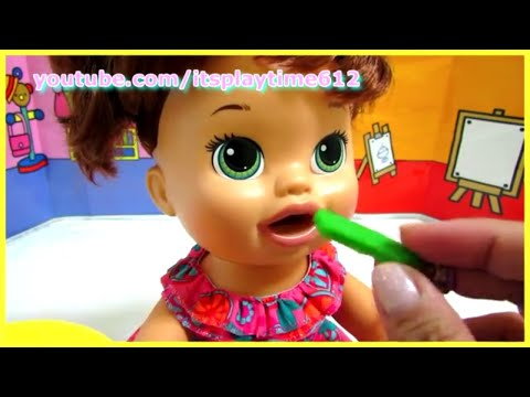 Baby Alive Super Snacks My Super Snackin' Sara Baby Doll + Toy Food Dough