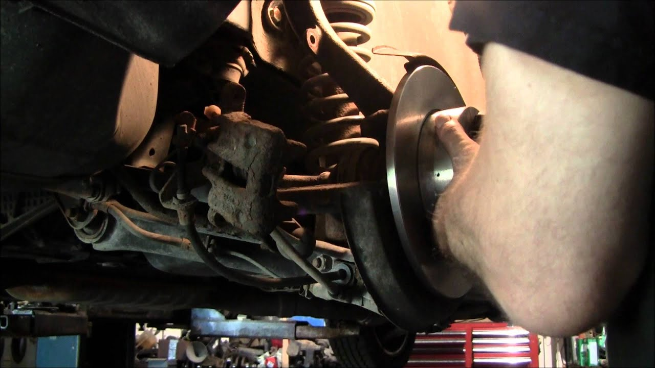Replacing Rear Pads Amp Rotors On A Audi A4 Quattro Youtube