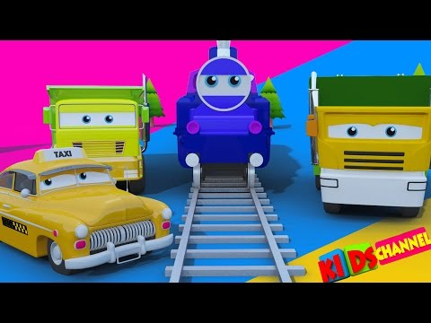 Toy Train   Street vehicles for kids   Learn transport   children cartoon cars video