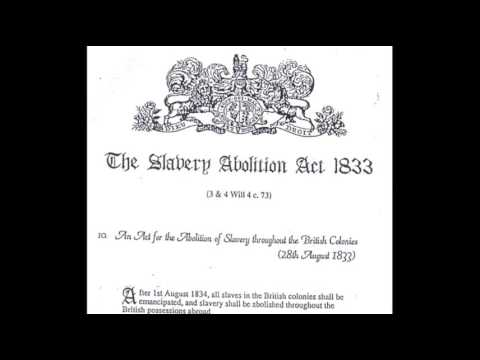 1st August 1834: Slavery Abolition Act comes in to force
