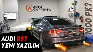 Audi RS7 1000PK..!? Yeni yazılım- Stage 2 Chip Tuning - Dyno Run & İnsanların tepkisi