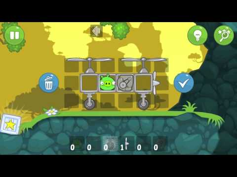 Let's Play Bad Piggies Part 13 - EXPLOSION PROOF HELICAR!!!