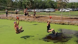 Parkour Team VS Mud Obstacle Course
