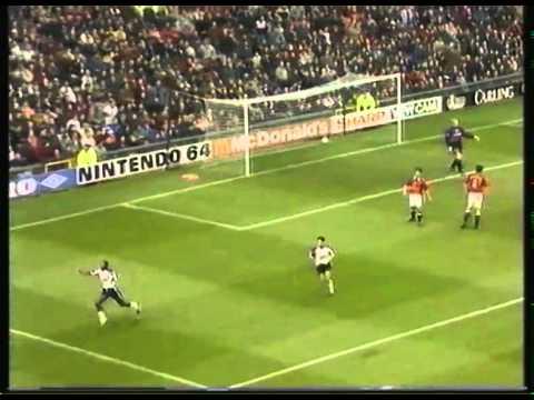 1997 - Manchester Utd 2 Derby 3 - Paulo Wanchope's wonder goal - BBC Radio Derby commentary