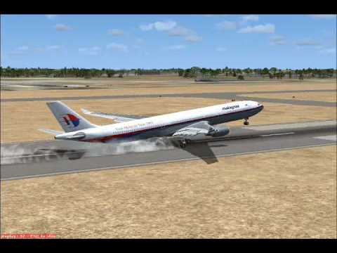 Flight Simulator:X Malaysia Airlines Airbus A330-300 Landing In Doha Intl