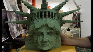 Stunning Creation of 9 Foot Tall Statue of Liberty - LEGO - Time Lapse