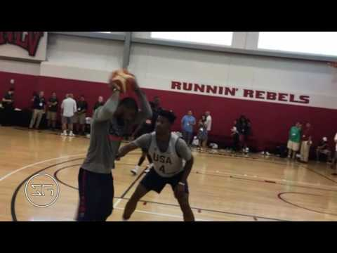 Kyrie Irving takes on Kyle Lowry & Jimmy Butler 1 on 1 in Team USA practice (2016)