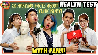 Health Ed Test With Fans! Who Is Smarter?
