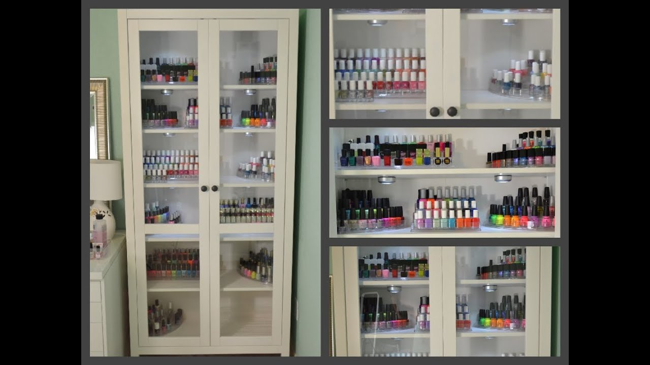 nails 101 my nail polish storage youtube. Black Bedroom Furniture Sets. Home Design Ideas