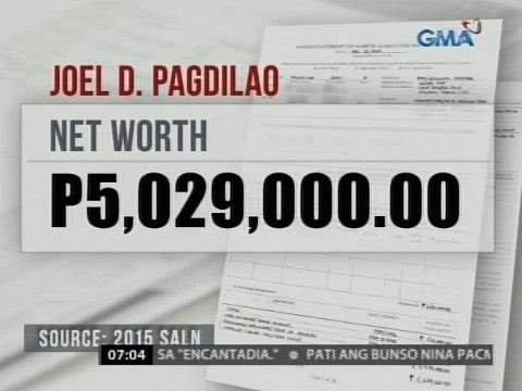 24 Oras: Pagdilao, mahigit P5-M ang idineklarang net worth noong 2015