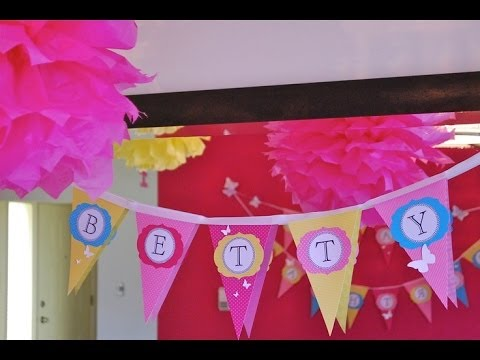 How To Make Pennants for a Banner ♡ Fast & Easy