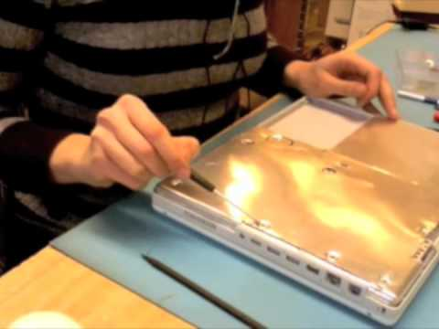 iBook G4 Hard Drive Swap Part 1 of 3