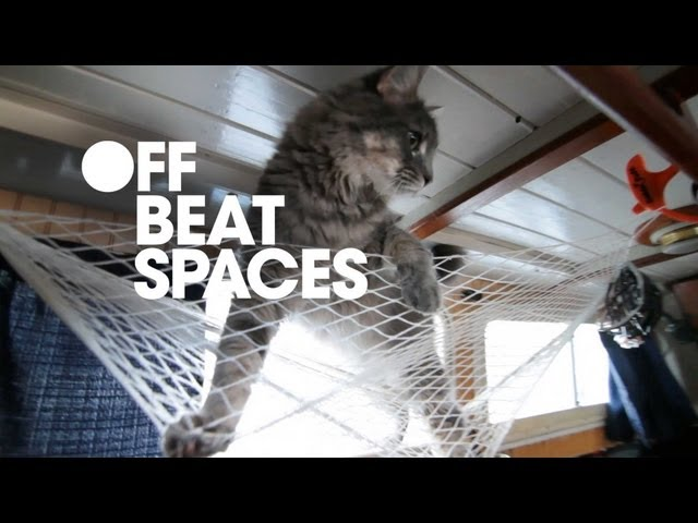 Cat on a houseboat - interior design video