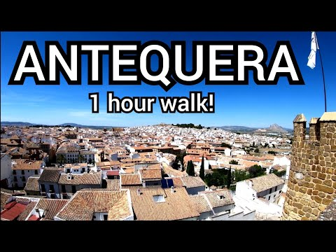 ⁴ᴷ ANTEQUERA walking tour, Malaga, Andalucia, Spain 🇪🇸