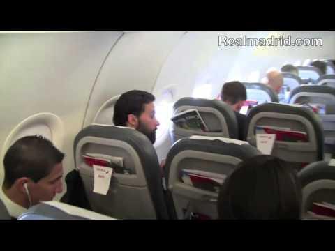Así fue el vuelo del Real Madrid a Lisboa | Diario Bernabéu