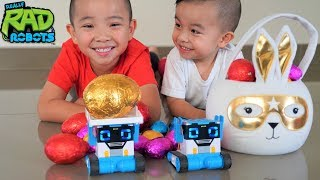 Chocolate Easter Egg Hunt With MiBro Robot PRANK and SPY Fun CKN Toys