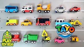 Learning Tayo Bus Friends Car Vehicle Names and Sounds for kids with Car Tomica Siku Toys