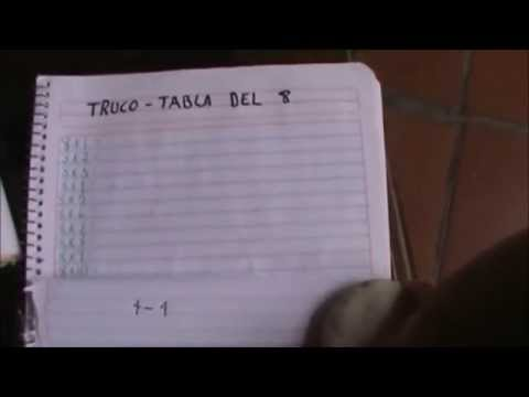 ¡¡¡Excelente TRUCO para aprender la TABLA DEL 8!!! How to learn your 8 times table fast
