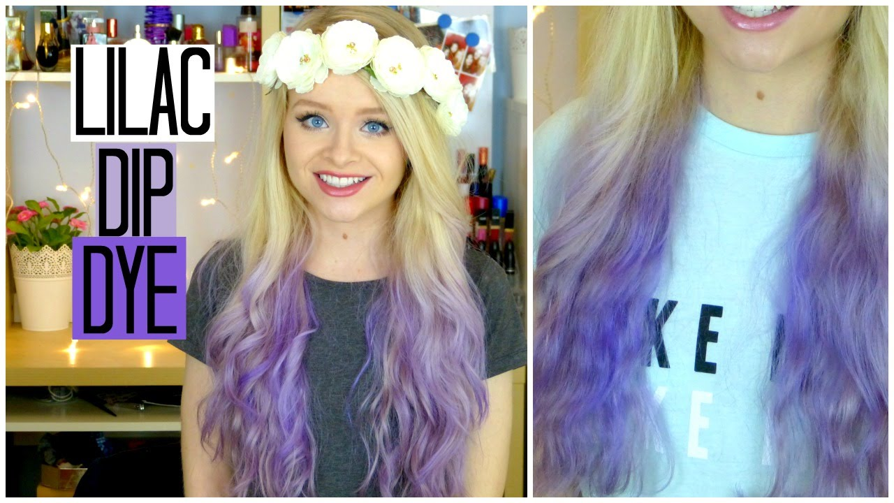 Blonde and lilac hair