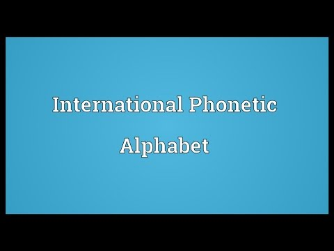 Header of International Phonetic Alphabet